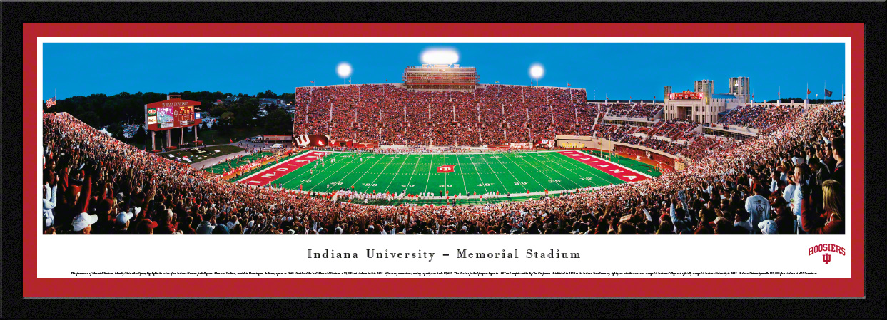 Indiana Hoosiers Football Select Framed Panorama