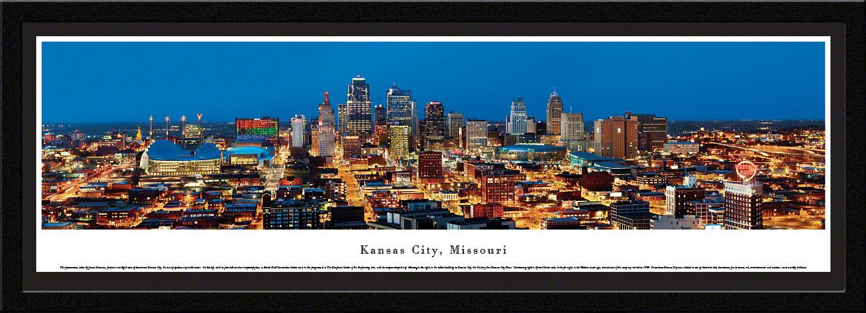 Kansas City, Missouri Skyline Panoramic Wall Decor