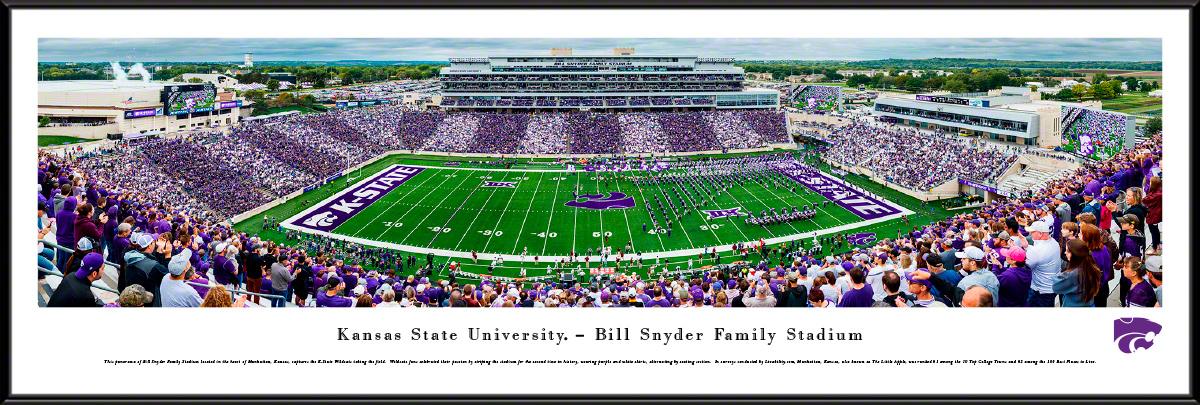 K-State Wildcats Football Fan Cave Standard Framed Panorama