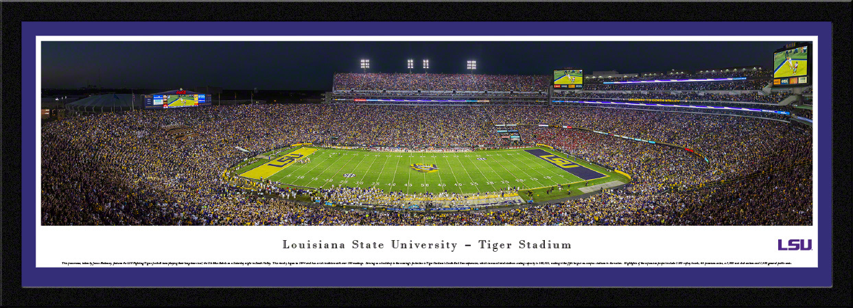 LSU Tigers Select Framed Panorama