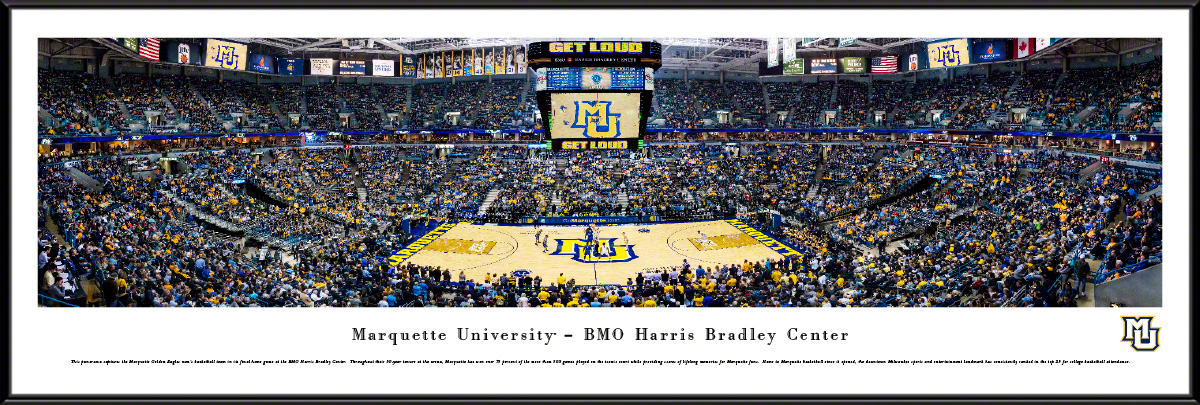 Marquette Golden Eagles Standard Framed Panorama
