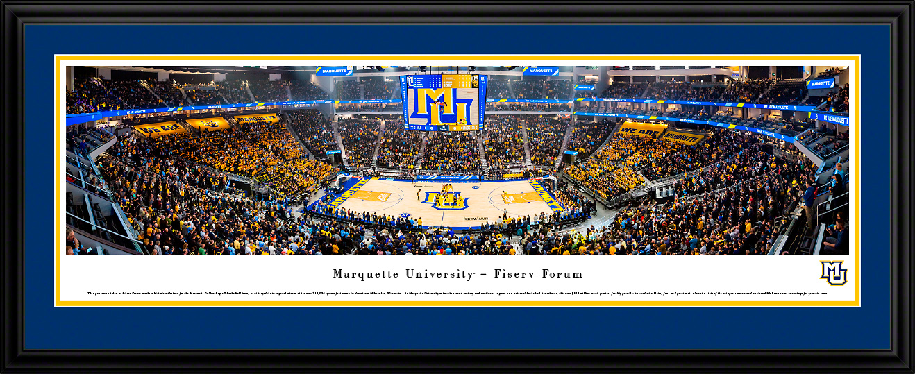 Marquette Golden Eagles Basketball Panoramic Wall Decor
