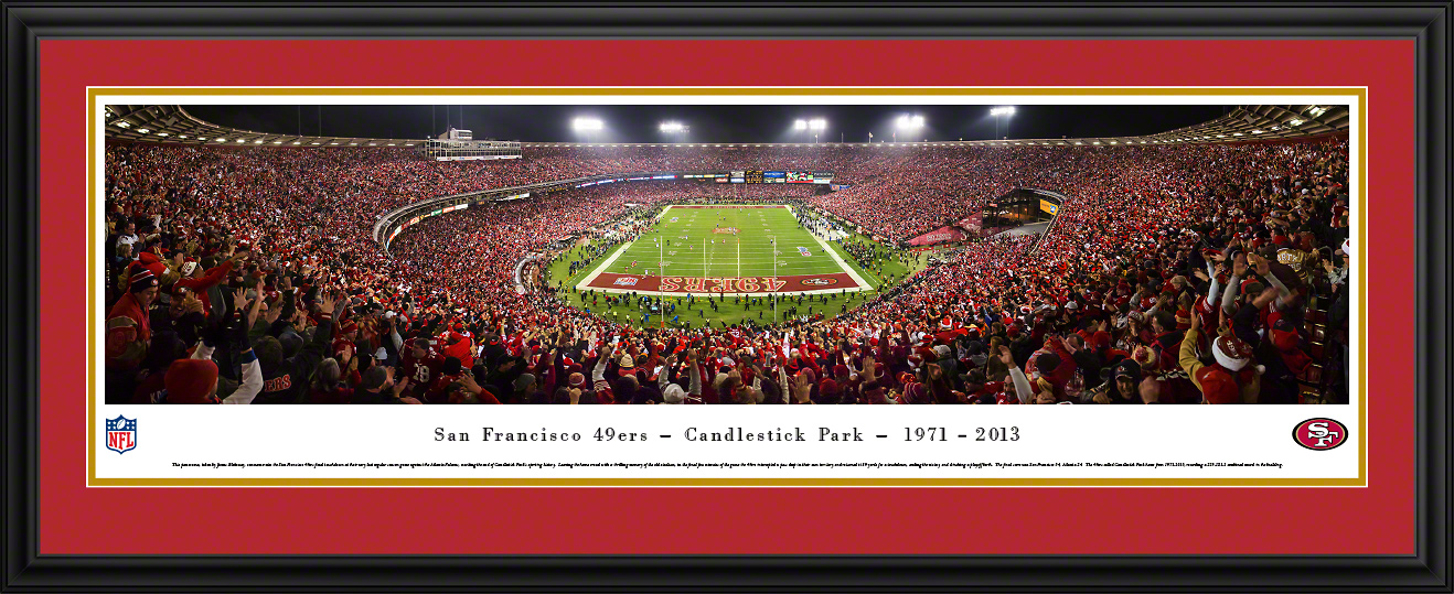 San Francisco 49ers NFL Fan Cave Deluxe Framed Panorama