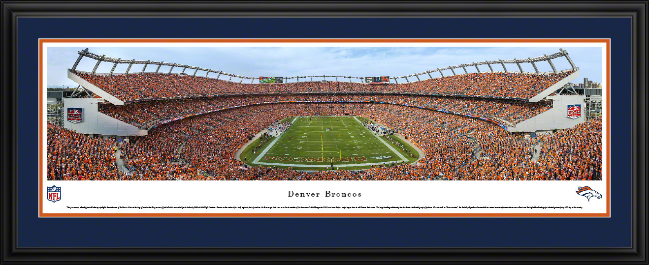 Denver Broncos NFL Fan Cave Deluxe Framed Panorama