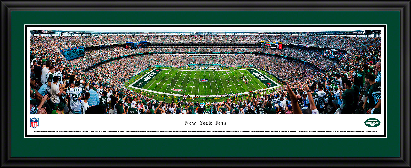 New York Jets Panoramic Picture - MetLife Stadium Fan Cave Decor