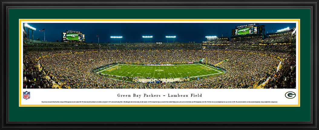 Green Bay Packers Deluxe Framed Panorama