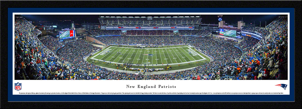 New England Patriots NFL Select Framed Panorama