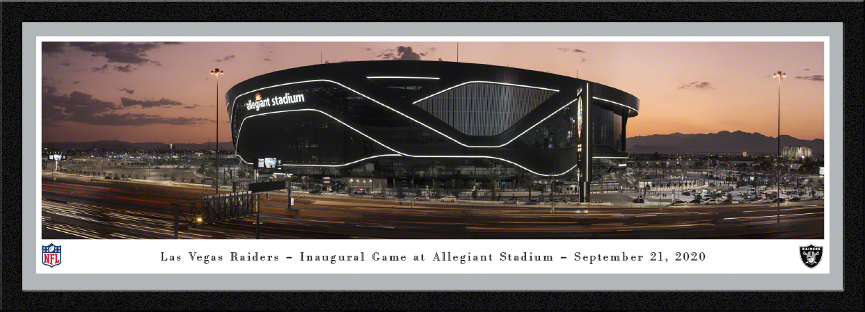 Las Vegas Raiders - Allegiant Stadium Panoramic Wall Decor