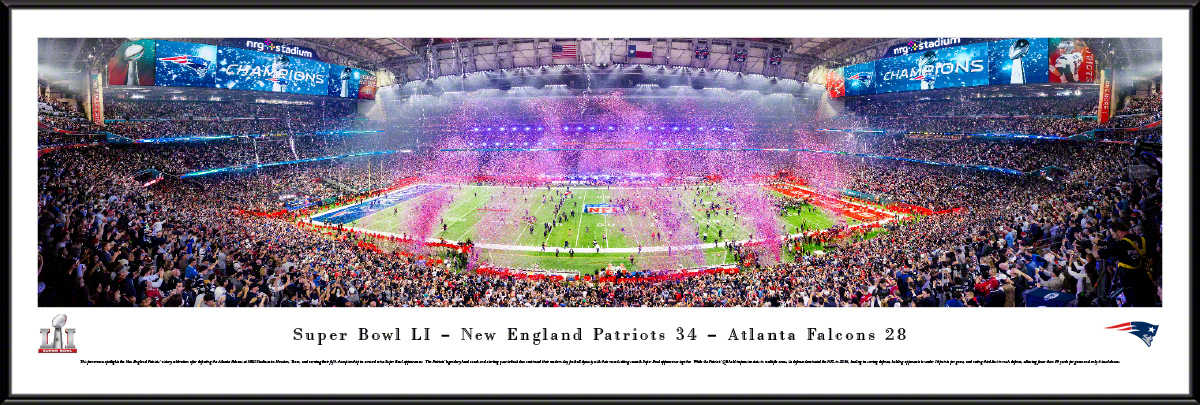 Super Bowl LI Panoramic Fan Cave Wall Decor