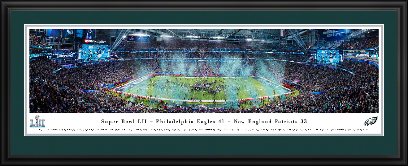 2018 Super Bowl LII Panoramic Fan Cave Wall Decor