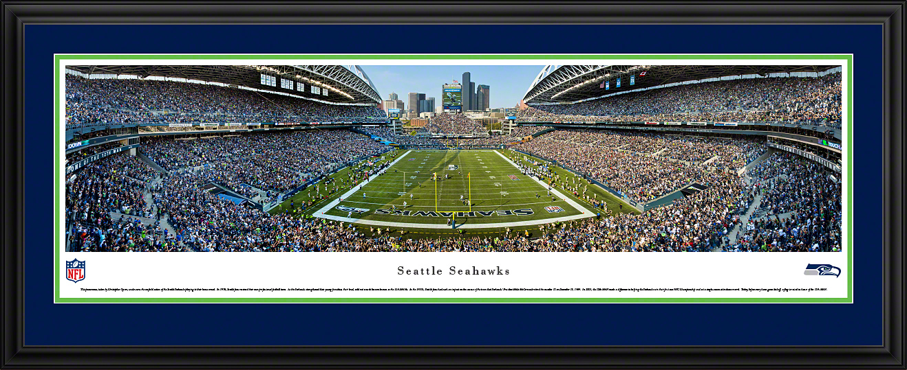 Seattle Seahawks Deluxe Framed Panorama
