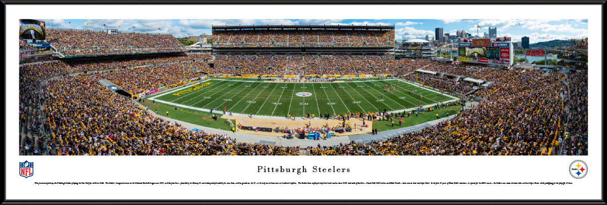 Pittsburgh Steelers Panoramic Fan Cave Wall Decor