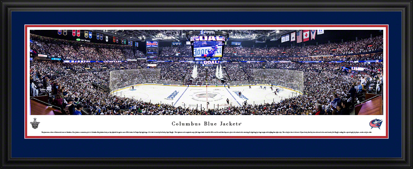 Columbus Blue Jackets NHL Panoramic Wall Decor