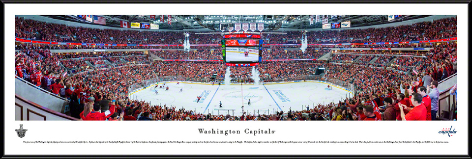 Washington Capitals Standard Framed Panorama