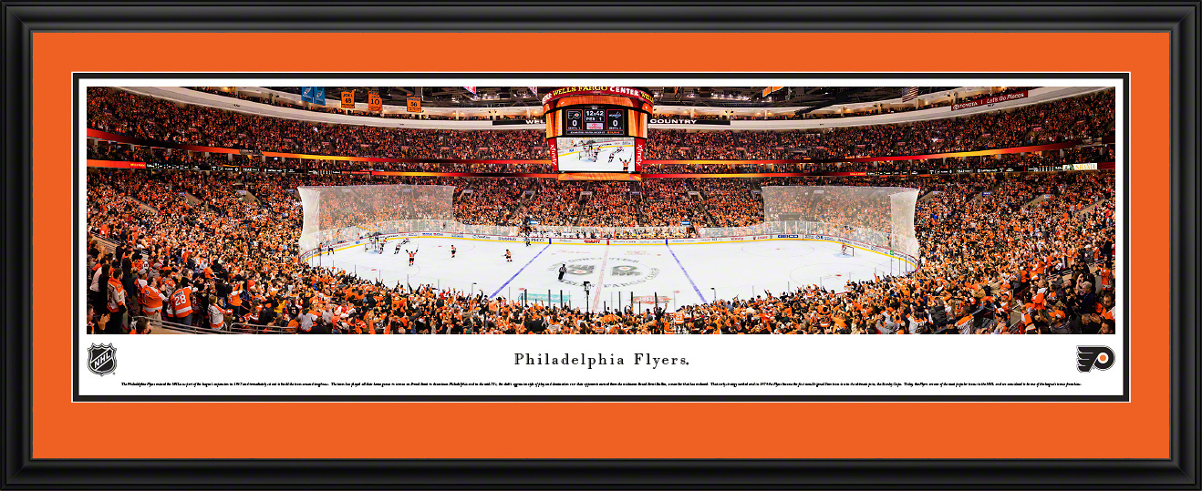 Philadelphia Flyers Panoramic NHL Fan Cave Decor