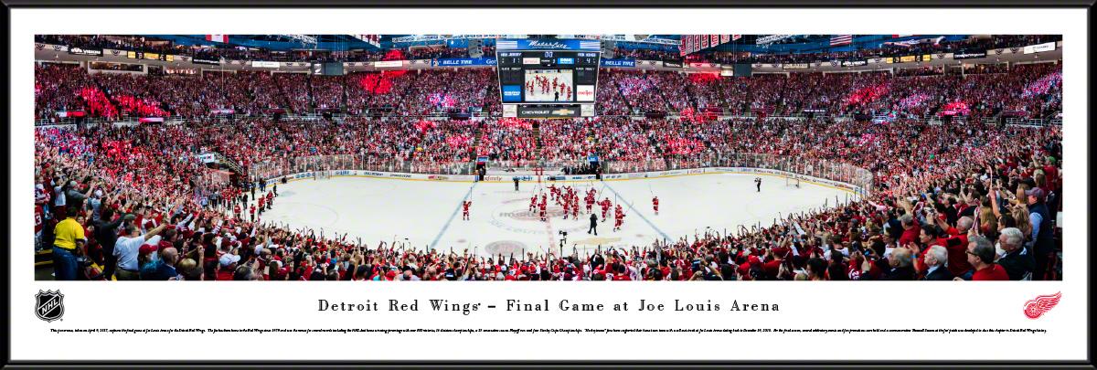 Detroit Red Wings Joe Louis Arena Panoramic Wall Decor