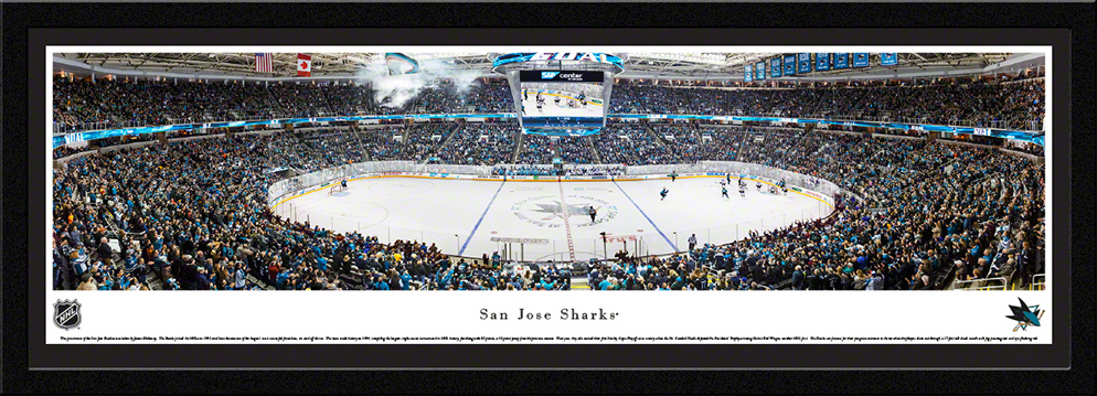 San Jose Sharks Select Framed Panorama