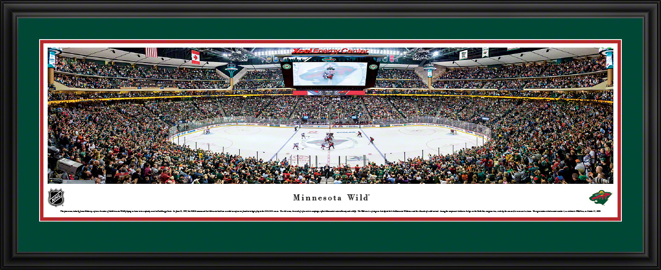 Minnesota Wild NHL Panoramic Fan Cave Wall Decor