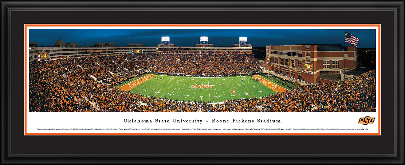 Oklahoma State Cowboys Panoramic Fan Cave Wall Decor
