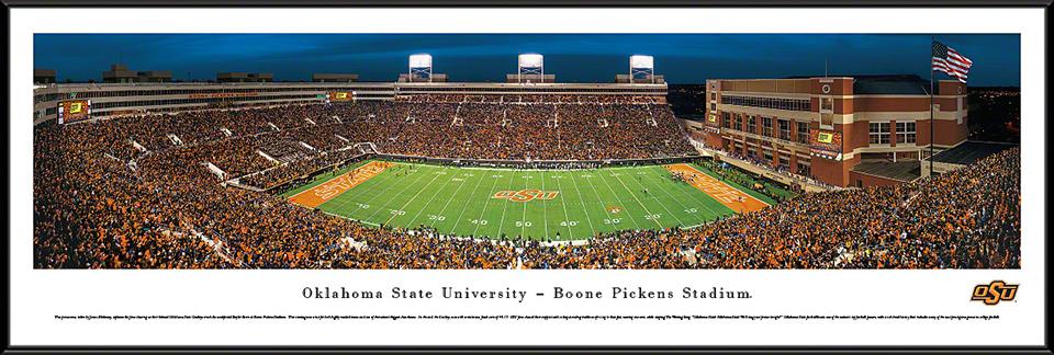 Oklahoma State Cowboys Standard Framed Panorama