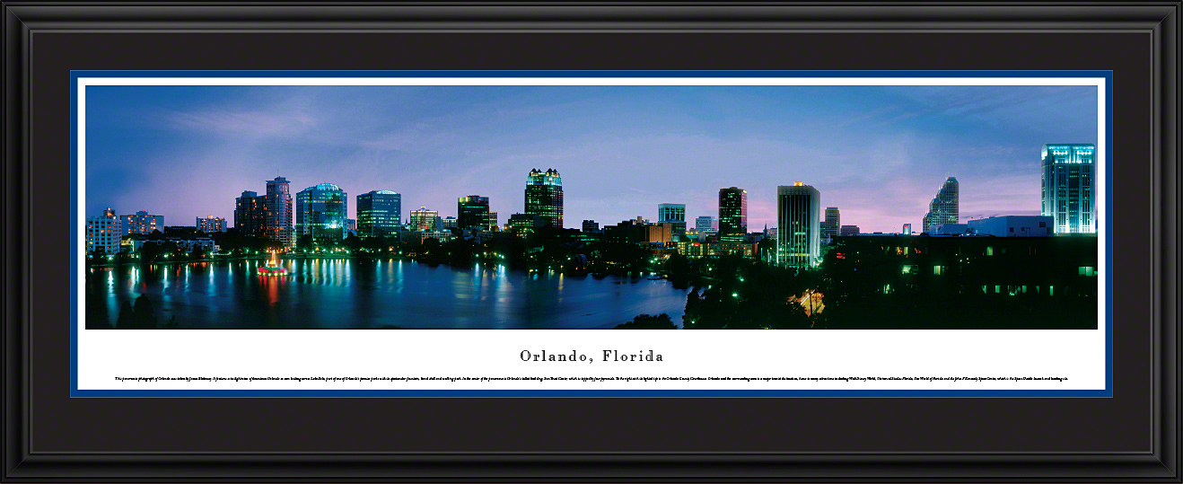 Orlando, Florida City Skyline Panoramic Wall Art