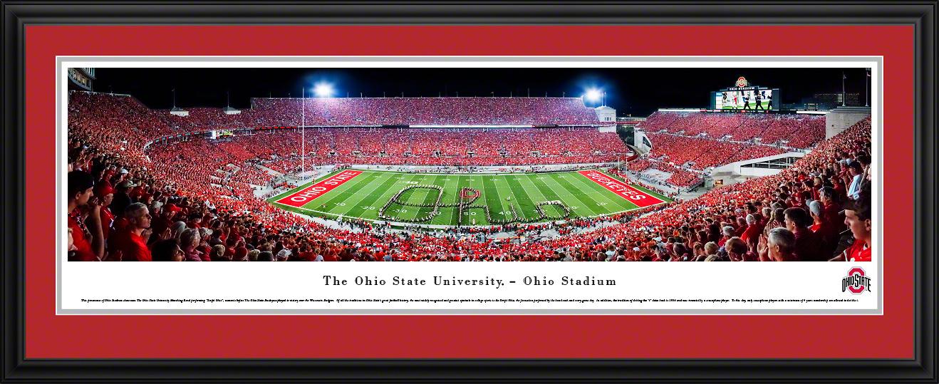 Ohio State Buckeyes Football Panoramic Fan Cave Wall Decor