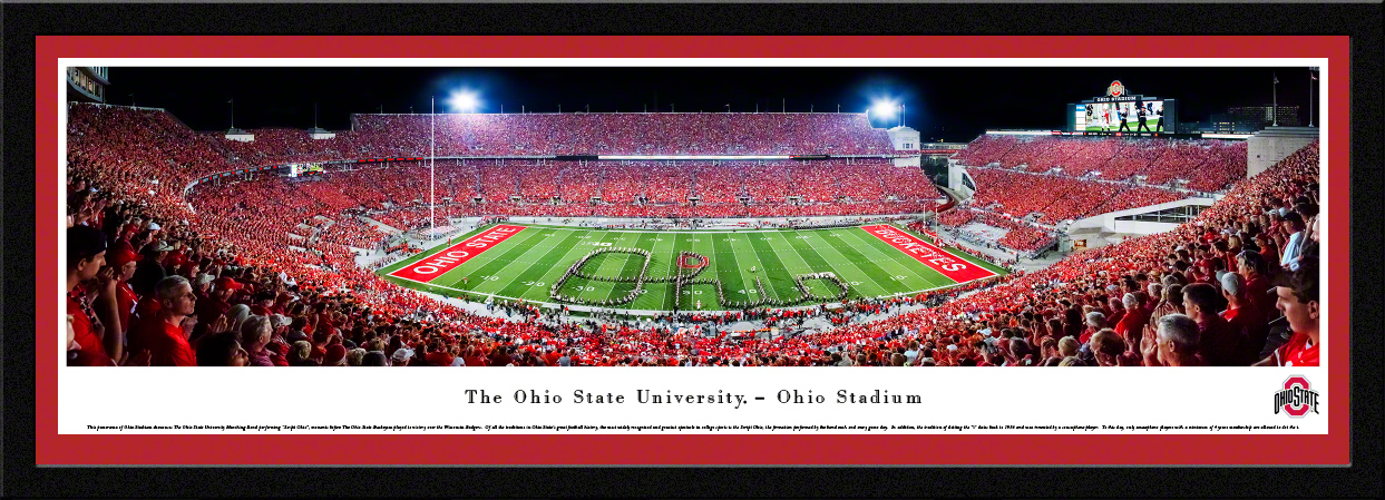 Ohio State Buckeyes Football Fan Cave Select Framed Panorama