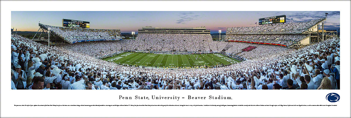 Penn State Nittany Lions Football Unframed Panorama