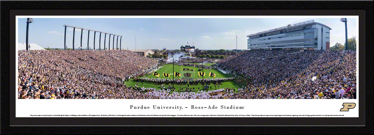 Purdue Boilermakers College Football Panoramic Wall Decor