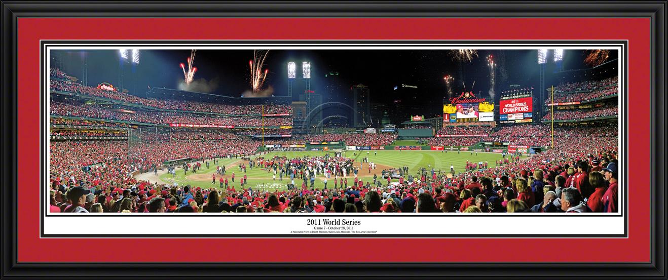 St. Louis Cardinals 2011 World Series Panoramic Fan Cave Wall Decor