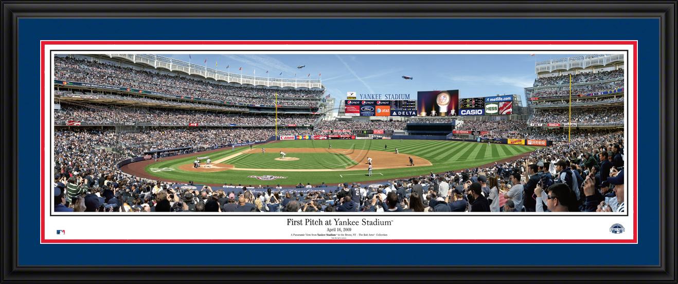 New York Yankees Panoramic Picture - First Pitch at Yankee Stadium