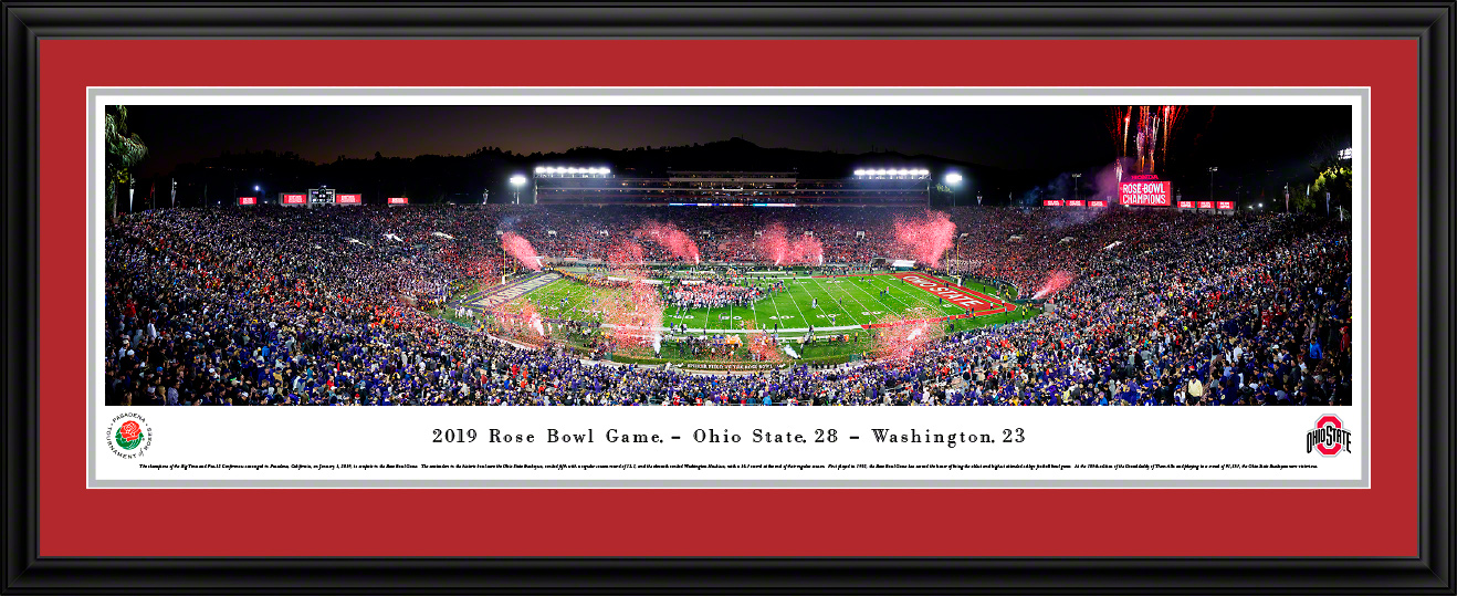 2019 Rose Bowl Game Victory Celebration Panoramic Poster