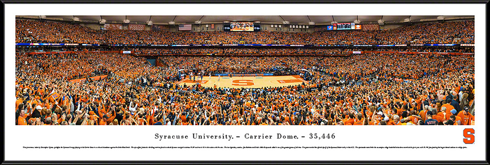 Syracuse Orange Basketball Standard Framed Panorama