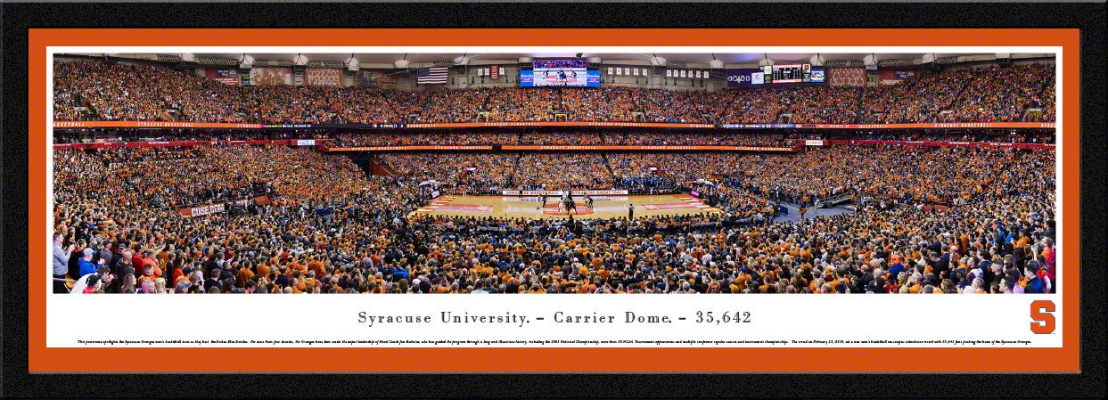 Syracuse Orange Basketball Panoramic Fan Cave Wall Decor