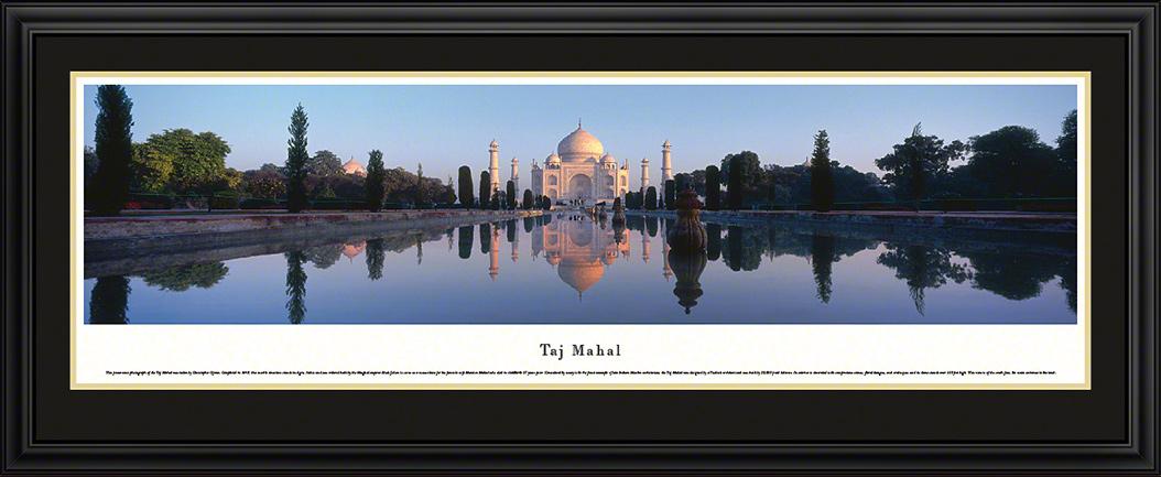 Taj Mahal Deluxe Framed Panorama