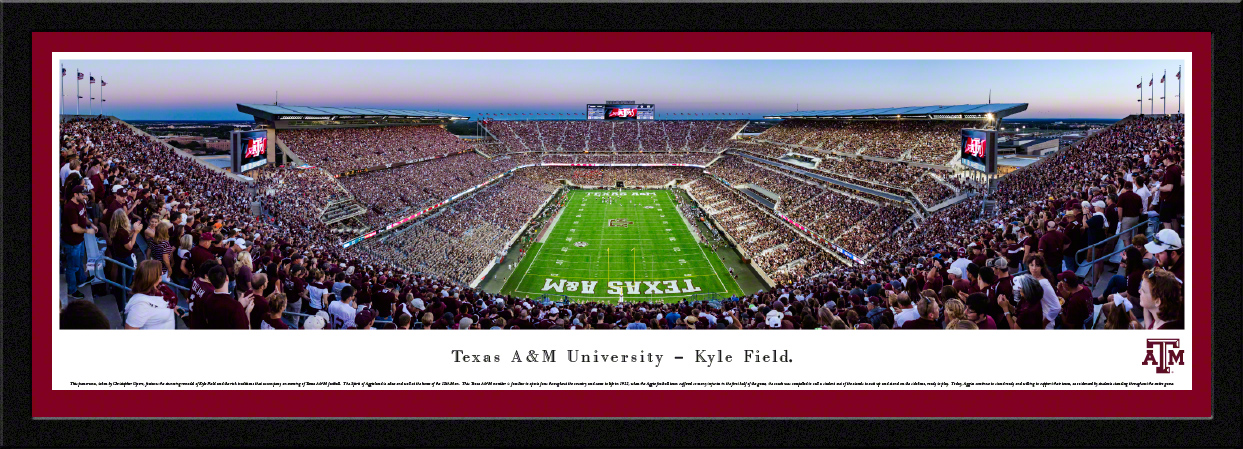 Texas A&M Aggies Panoramic College Football Fan Cave Decor