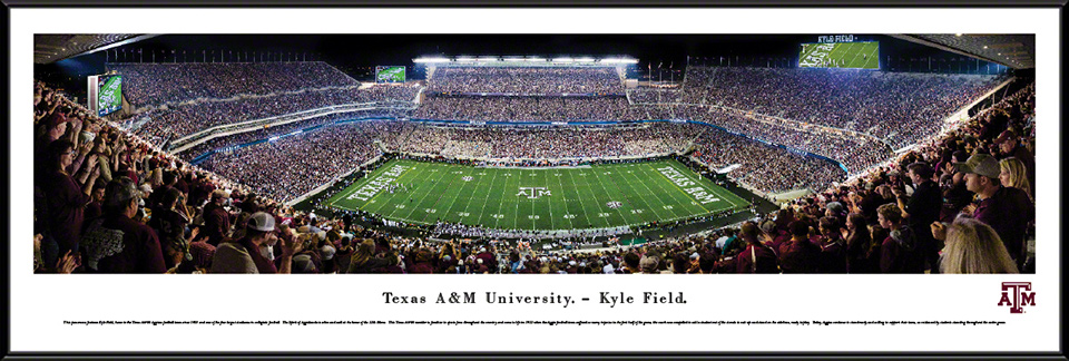 Texas A&M Aggies Standard Framed Panorama