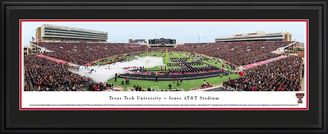 Texas Tech Red Raiders Football Panoramic Fan Cave Wall Decor