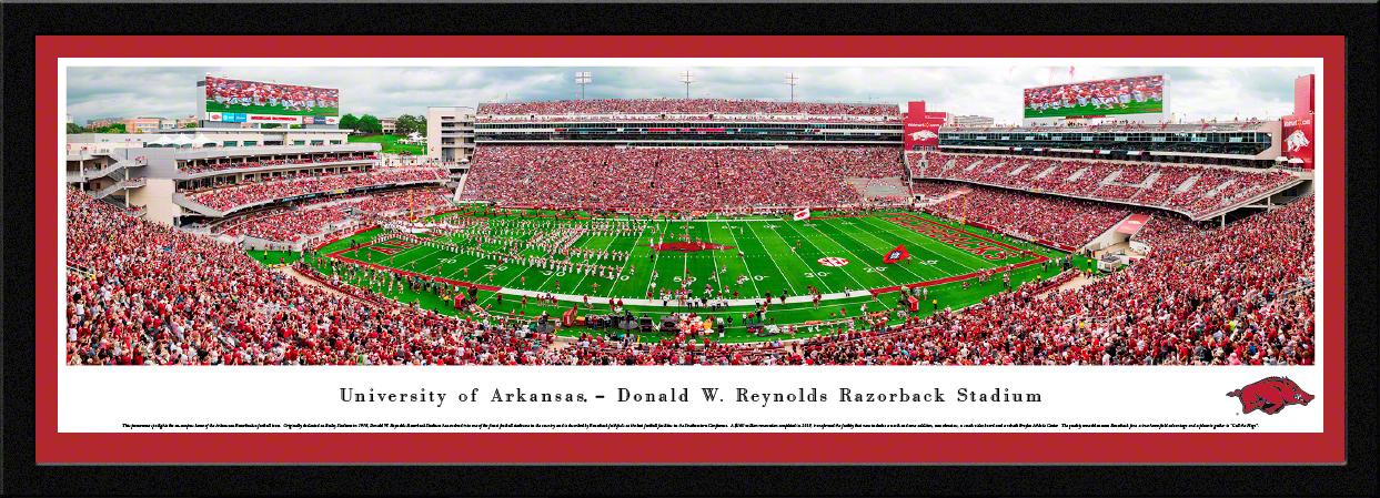 Arkansas Razorbacks College Football Panoramic Wall Decor