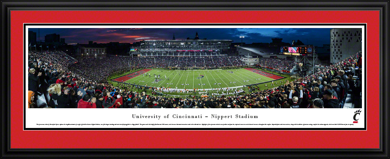 Cincinnati Bearcats Football Deluxe Framed Panorama