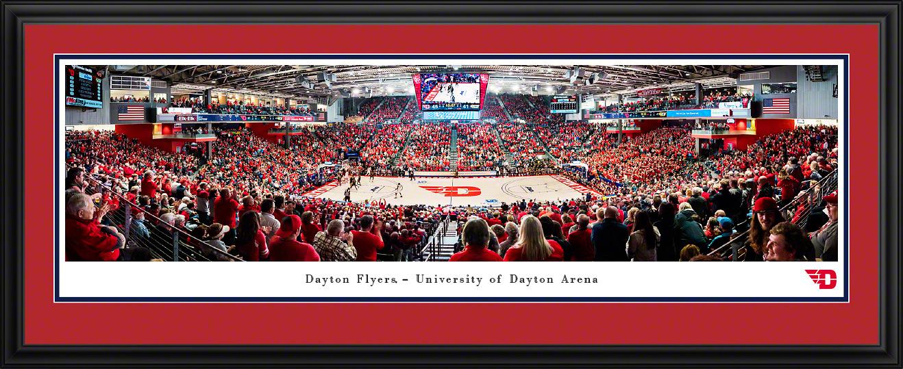 Dayton Flyers Basketball Panoramic Fan Cave Wall Decor
