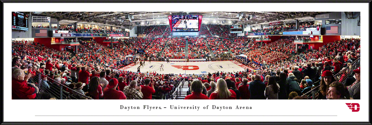 Dayton Flyers Basketball Panoramic Fan Cave Decor - UD Arena Picture