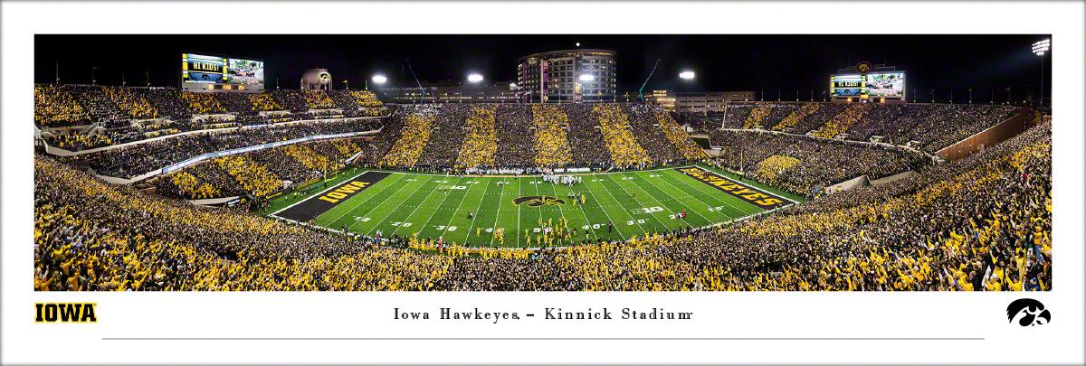 Kinnick Stadium Iowa Hawkeyes Panoramic Fan Cave Decor