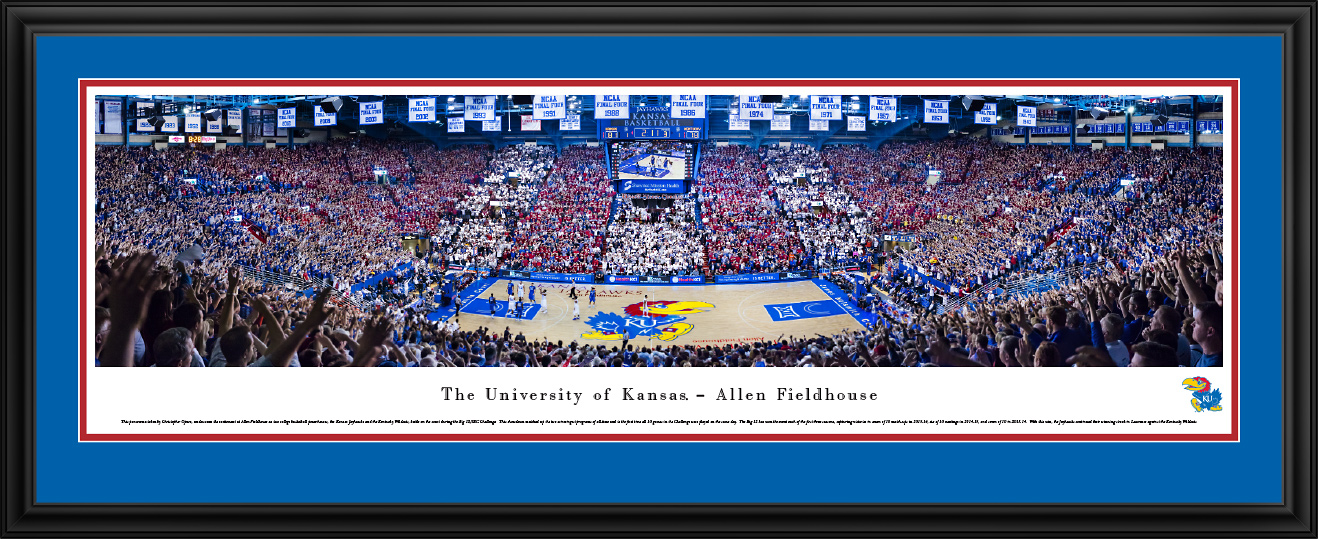 Kansas Jayhawks Basketball Deluxe Framed Panorama