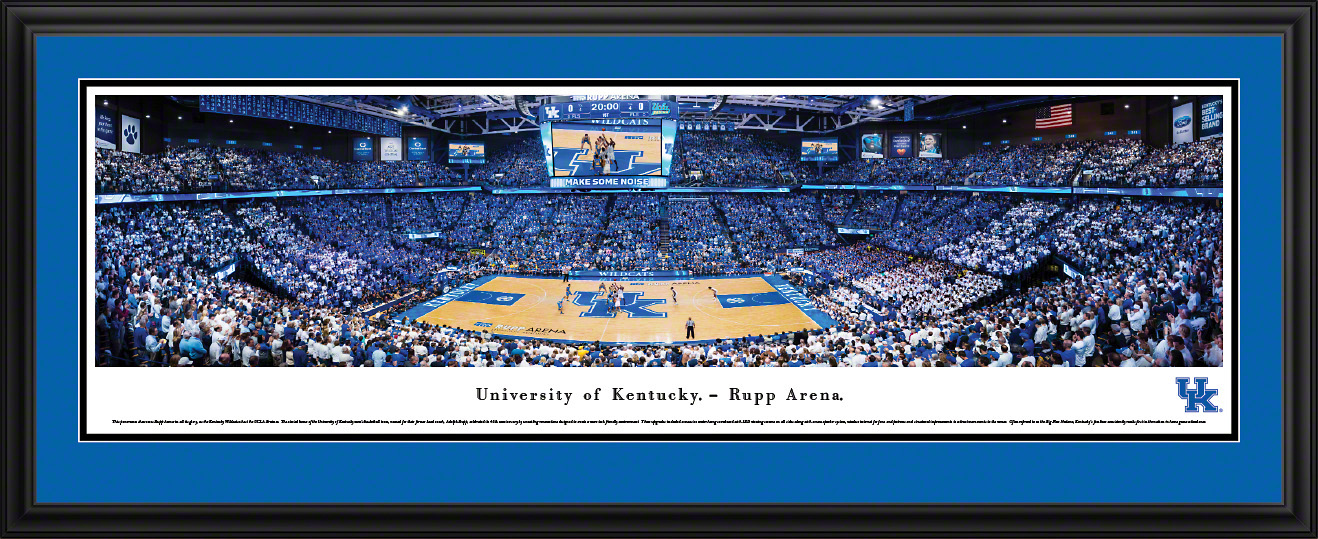 Kentucky Wildcats Basketball Panoramic Poster Print