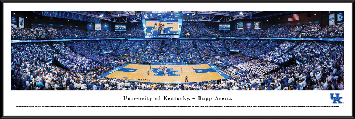 Kentucky Wildcats Basketball Standard Framed Panorama