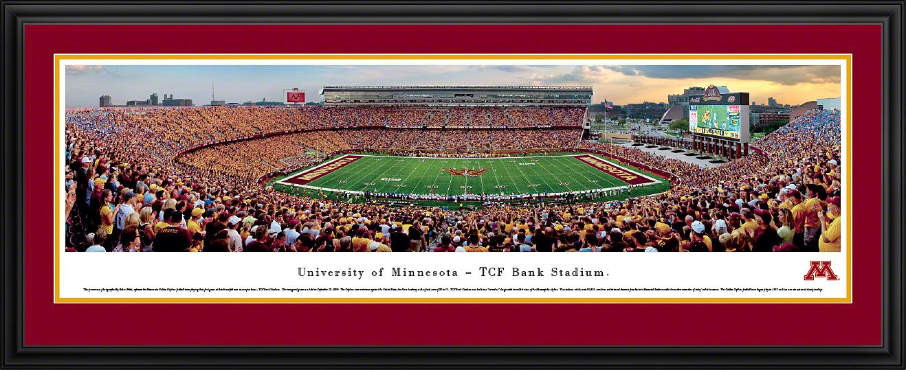 Minnesota Golden Gophers Football Panoramic Fan Cave Wall Decor