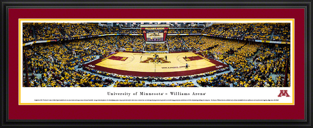 Minnesota Golden Gophers Deluxe Framed Panorama