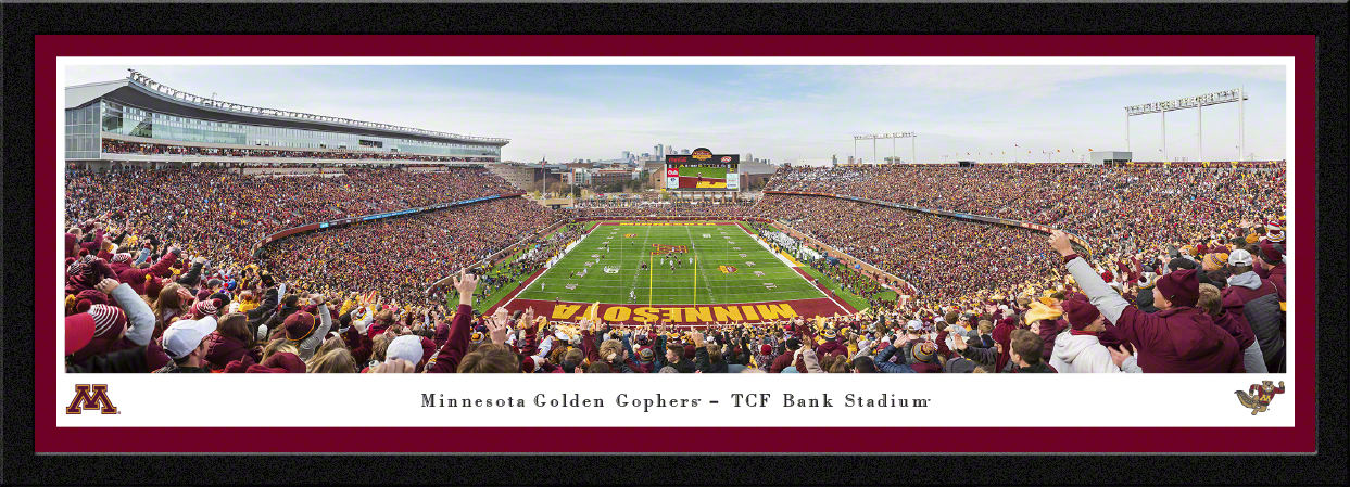 Minnesota Golden Gophers End Zone Panoramic Fan Cave Decor
