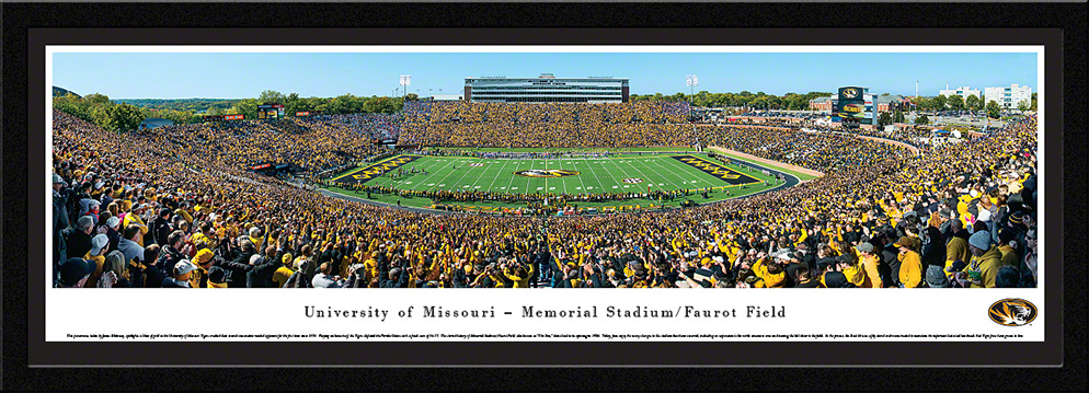 Missouri Tigers Football Select Framed Panorama